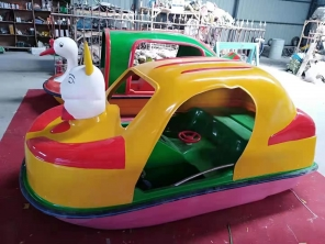 二人卡通动物脚踏船